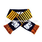 Newest factory sale Low cost small knitted sports fans top quality decoration football scarf