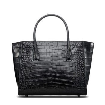 Top sale Alligator Skin Cowhide Top Handle Handbag Tote Bag Animal Prints Pattern Type crossbody purse