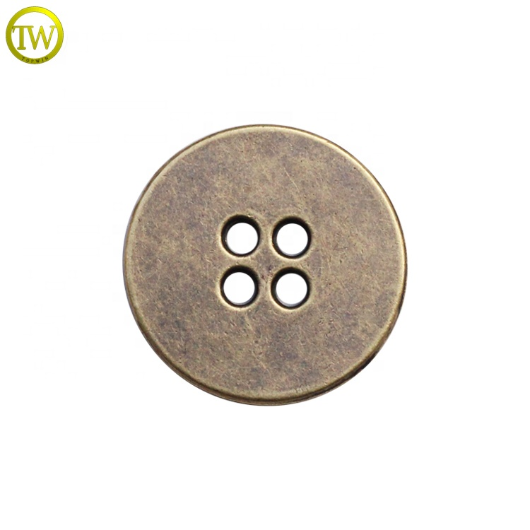 Custom 4 Hole Metal Fancy logo sewing buttons For Clothes