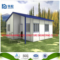 Low cost well design cheap small prefab house / prefabricated hous for family use very easy to build house kit