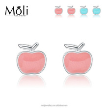New Style Apple Design 925 Sterling Silver Earrings Fashion Jewelry for Daily