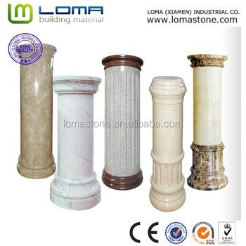 Loma Marble Indoor Decorative Columns, Marble Column