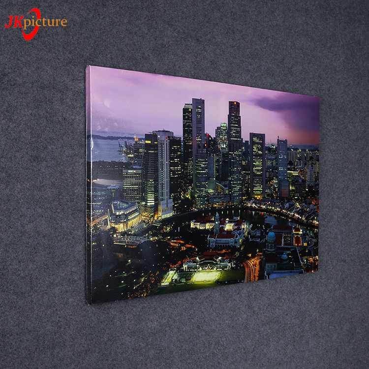 City Night Landscape High-rise Paris Canvas Prints Interior Room Decor Wall Art Painting