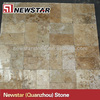 French Pattern Golden Rose Travertine Pavers Tumbled