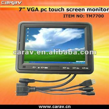 "in-dash car lcd color 16:9 7"" touchscreen monitor"