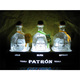 LED lighted bottle display stand for 3 Patron Tequila Bottles