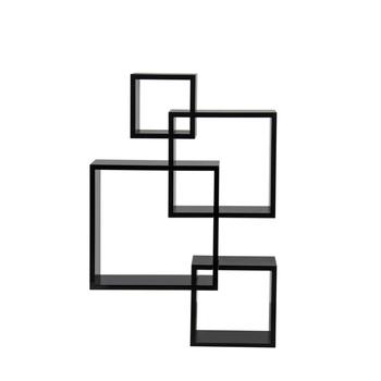 New modern geometric wall shelf with a black finish intersecting new modern geometric wall shelf with a black finish intersecting squares floating shelf ccuart Images