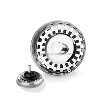 "Sink Strainer Basket Stopper Plug / 3.2"" Dia Stainless Steel Drain Sink Strainer Plug Stopper"
