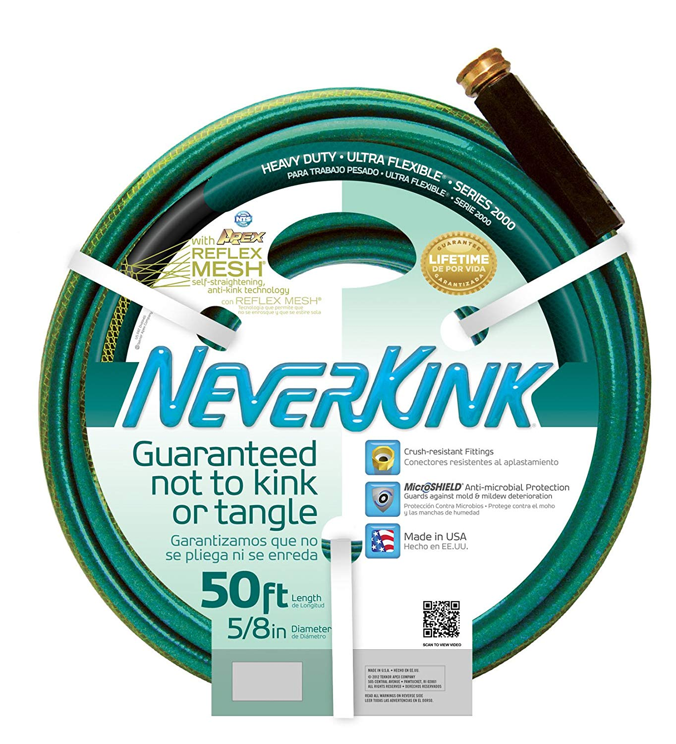 Apex 8605-50 NeverKink 2000 5/8-Inch by 50-Feet Heavy Duty Ultra Flexible Hose