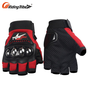 2018 Custom Made Half Finger Tactical Leather Motorcycle Gloves Winter