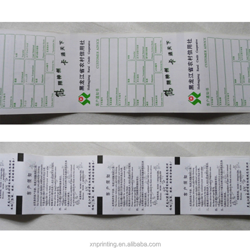 Factory price custom rolling 57mm pos terminal thermal receipt paper