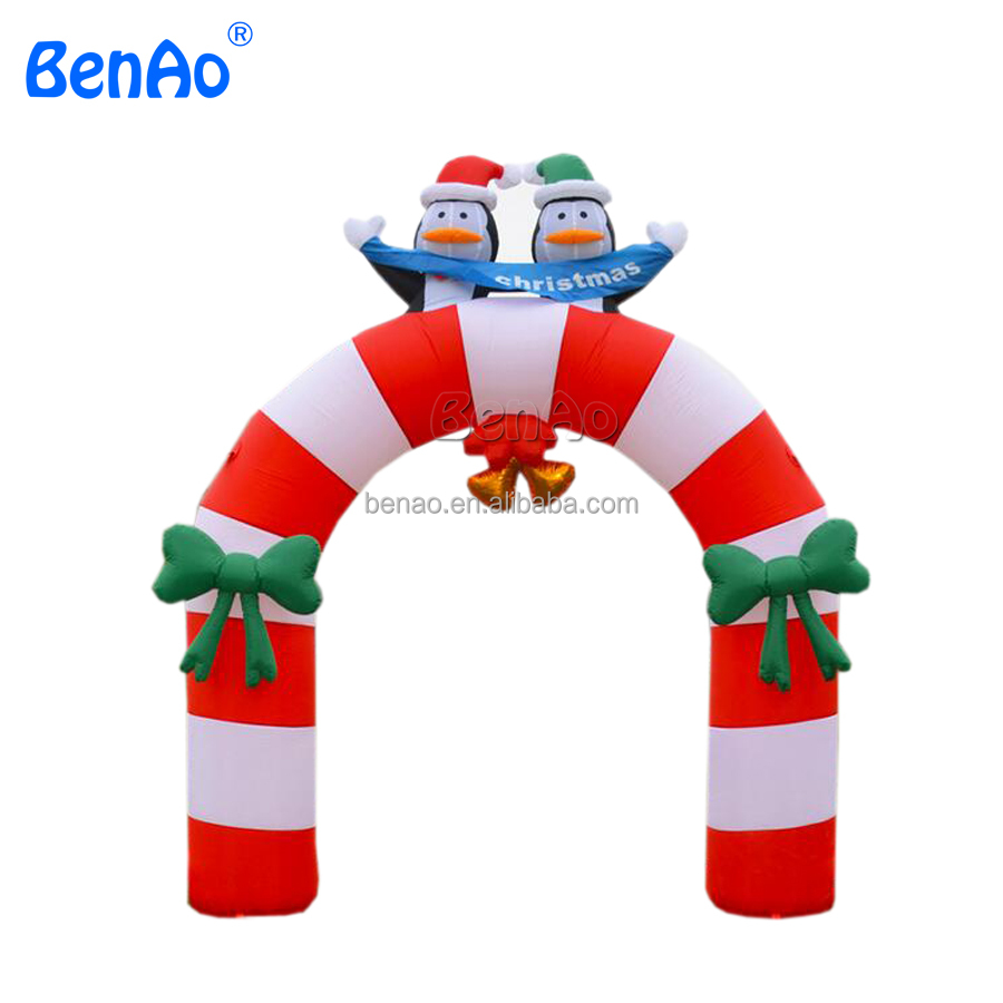 X156 Inflatable,Inflatable Christmas Archway With Two Penguins ...