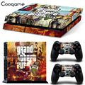 For GTA PVC Skin Sticker For PS 4 Console For Sony Palystation 4 Controller Cover Decal