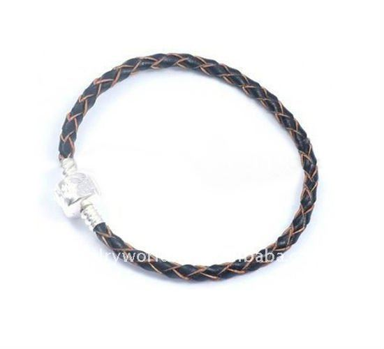 Single Leather European charm bead bracelets L61