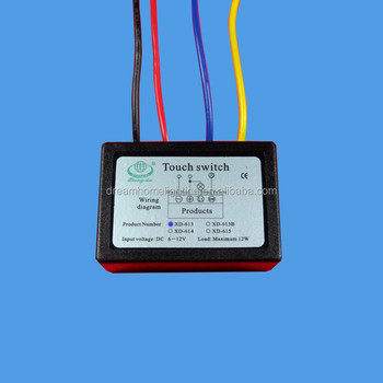 Phenomenal Xd 613 On Off Touch Switch 6 12V Dc For Led Lamp Diy Accessories Wiring Cloud Tobiqorsaluggs Outletorg