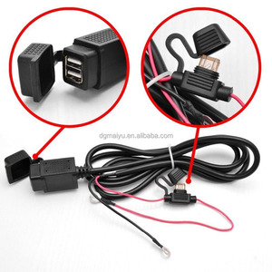 Waterproof Motorcycles 2.1A Dual USB Power Outlet Port Mobile Phone Charger Kit (Fits: Charger)