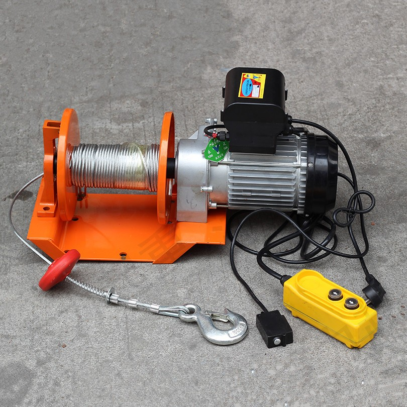 portable small electric winch 12v electric winch motor