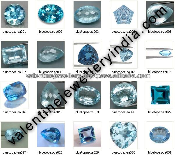 Fantezi Kesim Mavi Topaz Gemstone, Satılık Pentagon Kesim Mavi Taş,  Tasarımcı Taş Tasarımcı Takı