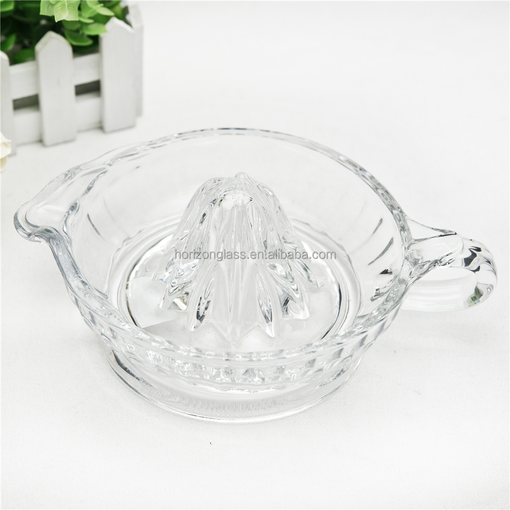 Hot Sale! High Quality Borosilicate Clear Glass Hand Lemon Squeezer