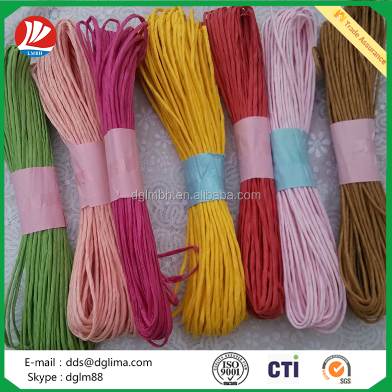 Colorful paper twist rop for bag handle