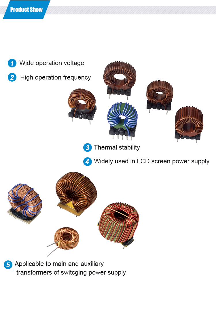 Chipsen toroidal ferrite core choke coils Electric Induction Coil inductance customized choke coils inductors