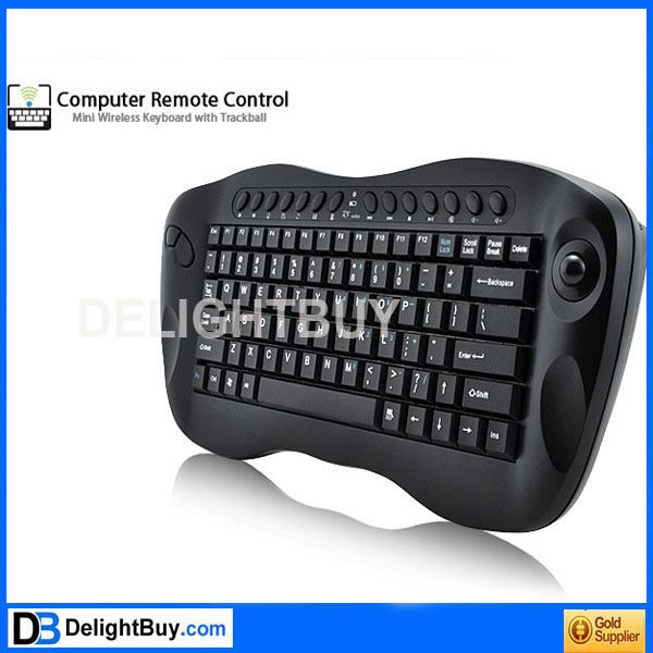 Computer Remote Control Mini Wireless Keyboard with Trackball