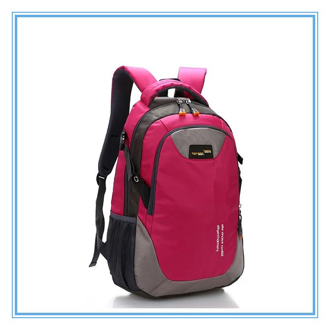 Nylon Sky Blue School Shoulder Laptop College Backpack Bag For Men ...