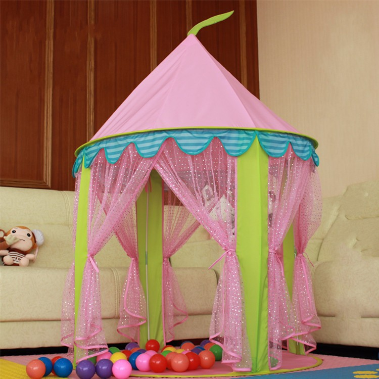AIOIAI Princess Castle Play Tent Children Kids Play Tent House Baby Anti-mosquito Mesh Tent & Aioiai Princess Castle Play Tent Children Kids Play Tent House Baby ...