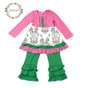 winter baby Girls Outfit 2 Pieces Boutique Clothing Set For Child clothing set baby girls long sleeve top and pant outfit