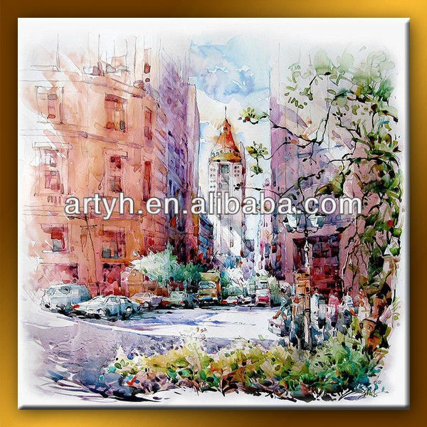 Modern decortive canvas panel paintings for hotel decor