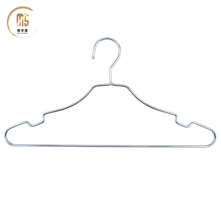 10 pieces / Lot High Quality Metal Clothes Hanger with Groove Stainless Steel Hanger