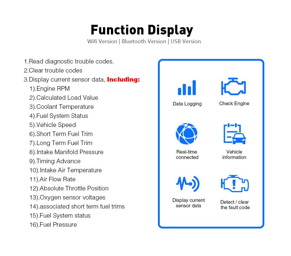 Vgate iCar2 ELM327 Wifi OBD2 Strumento di Diagnostica per iPhone IOS/Android/PC icar 2 wifi ELM 327 OBDII lettore di codice