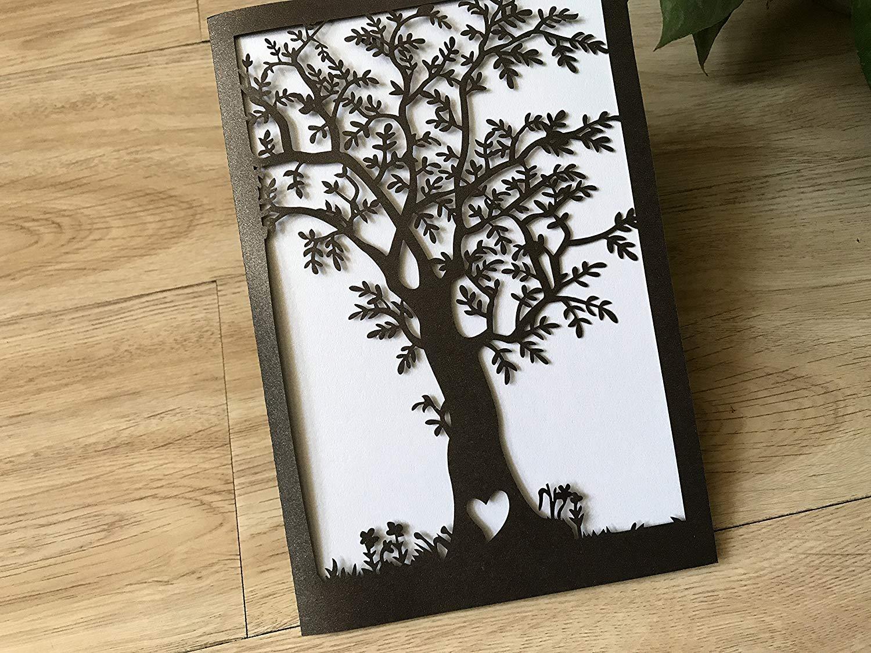 Открытка деревья