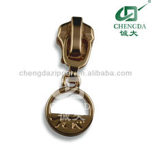 all kinds of plating ring puller brass slider for zipper