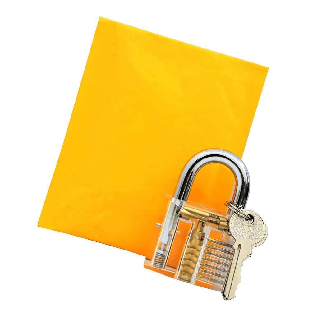 MuLuo Transparent Locks Pick Visible Cutaway Mini Practice View Padlock Hasps Training Skill for Locksmith Furniture Hardware