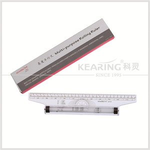 Transplant plastic 30cm engineering parallel rolling plastic ruler with blister card for fashion design MPR30