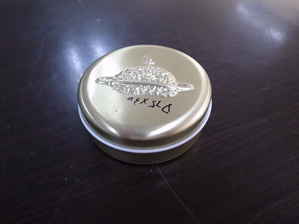 A-Class round shaped caviar tin can