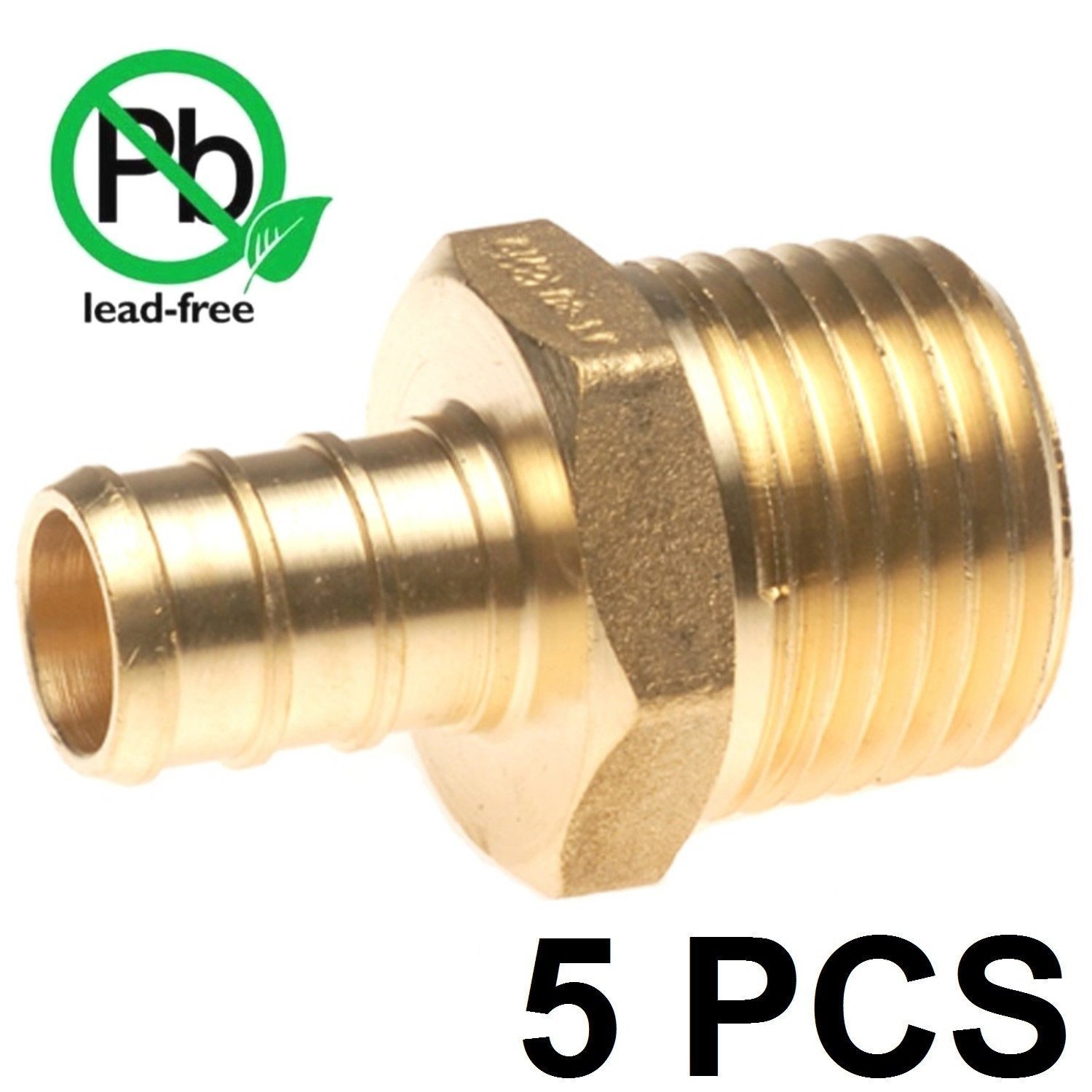 """100 Poly Alloy Lead-Free Crimp Fittings 1//2/"""" PEX Couplings"""