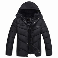 men's winter waterproof windproof padded parka jacket with fur lining