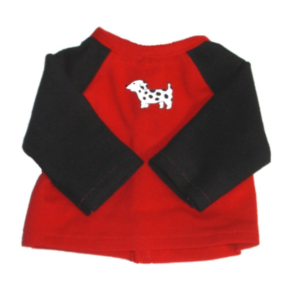 b91d704ea Get Quotations · Dalmatian Shirt - Clothing to Fit 18 Inch American Girl  Dog Clothes - Shirt For American