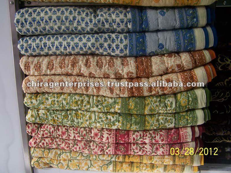 Icheckout~ Indian Hand Block Print Cotton Quilts Wholesale Lot ... : cotton quilts - Adamdwight.com