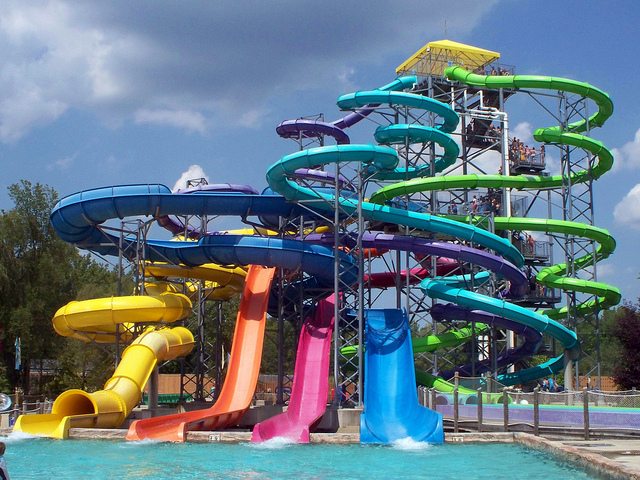 Fiberglass Combination Water Slides Equipment for Sale