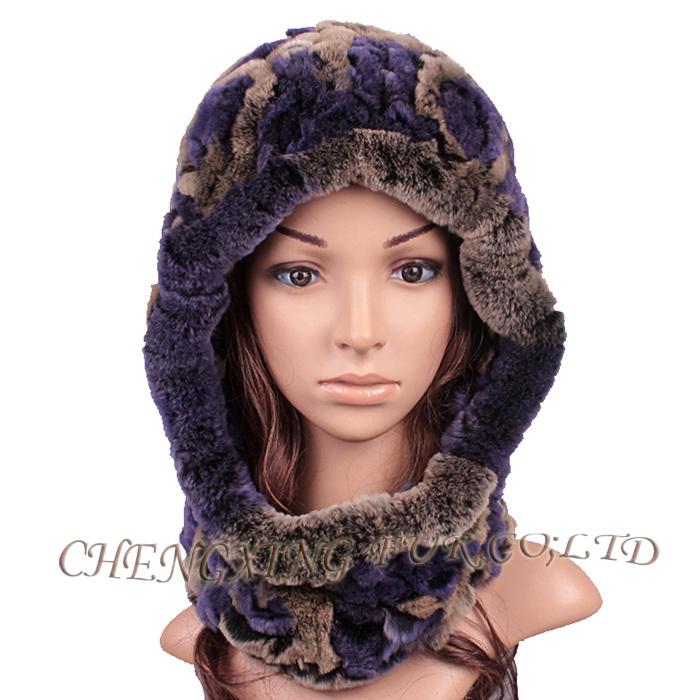 Cx C 193c Rex Rabbit Fur Hat Knitted Pattern Ladies Fashion Knitting