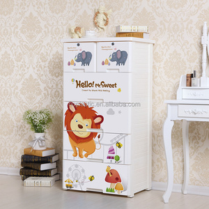60cm lion 5 CHEST OF DRAWERS PLASTIC TOWER STORAGE UNIT OFFICE BEDROOM PAPER ORGANISER NEW