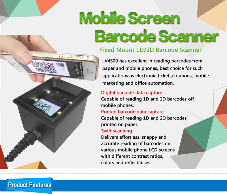LV4500 1D 2D Mobile Phone Screen Barcode Scanner For Kiosk And Vending  Machine Security Scanner Slide Scanner From Szlvbarcode, $221 11| DHgate Com