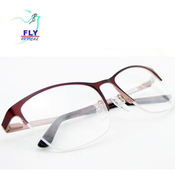 Fashion Latest Style For Girls Half Frame Optical Medicated Glasses ...