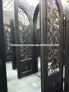 wrought iron luxury security door interior door moulding made in Xiamen Fujian Factory