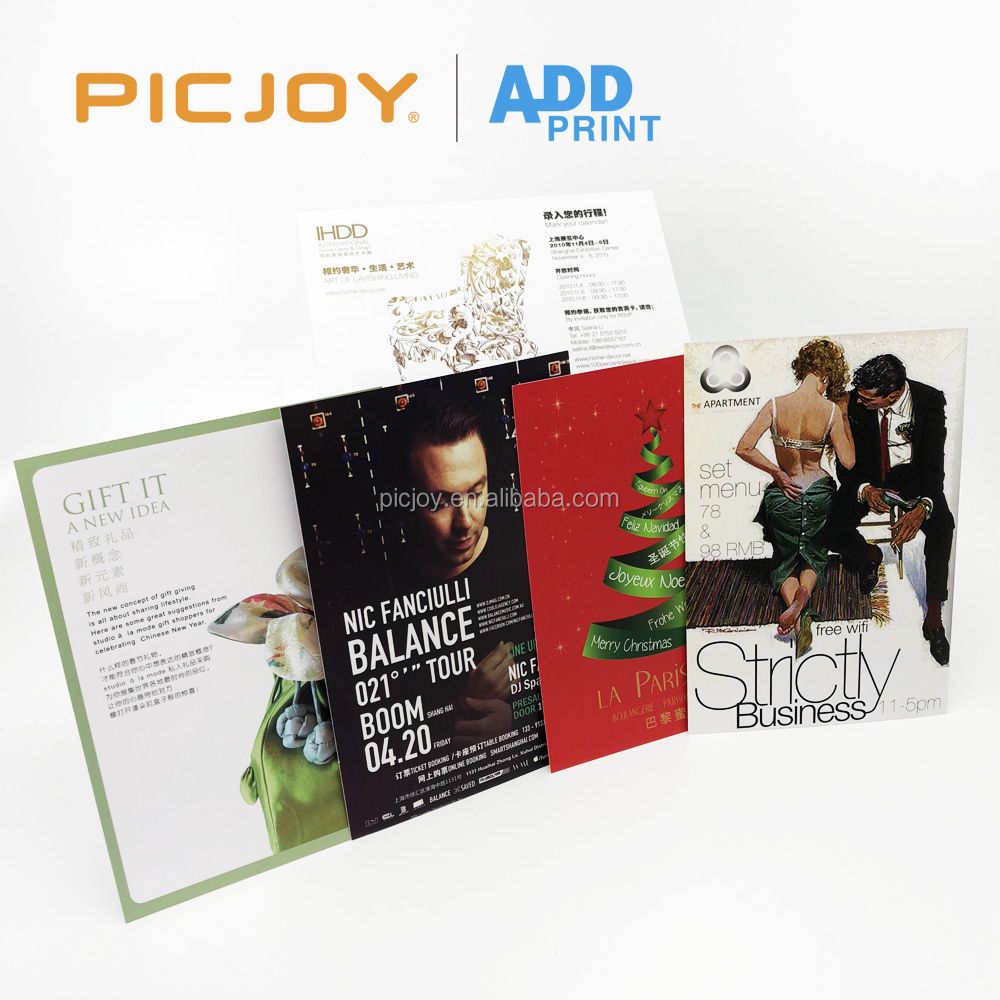 Wholesale A5 210x148mm 300gsm glossy coated paper cheap flyer printing with matt lamination printing in shanghai