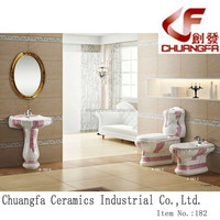 Good quality popular fashion design bathroom three suite