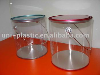 Gallon buckets pvc buckets clear pails buy gallon for 1 gallon clear plastic paint cans
